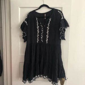 Free People boho mini dress